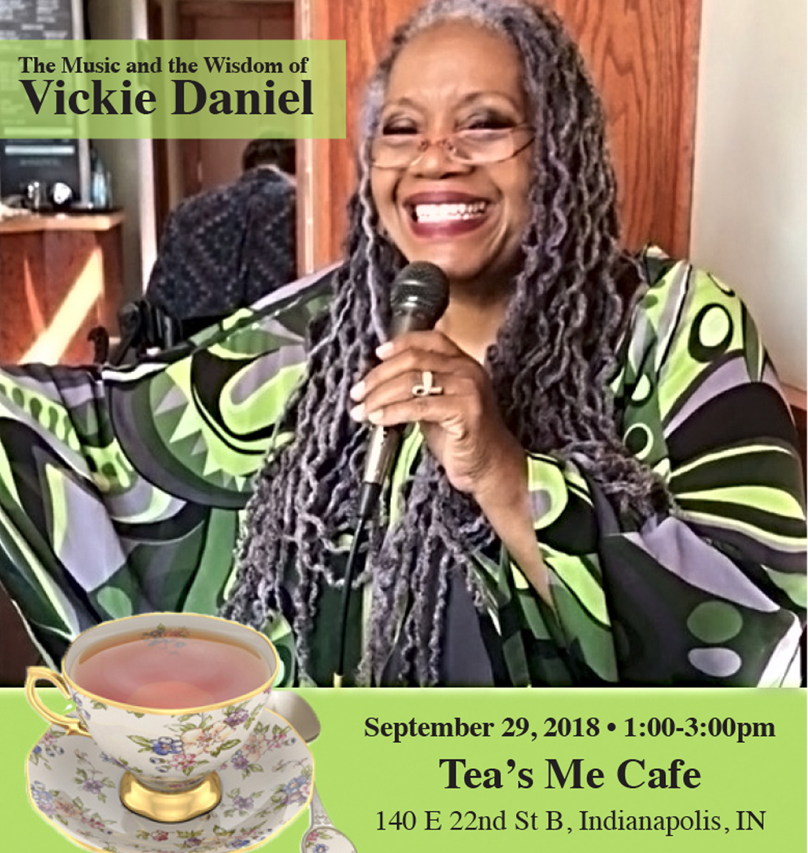 Tea with Musical Artists Vickie Daniel &Carl Hines September