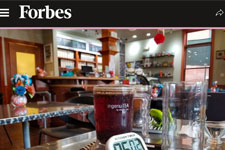Forbes Magazine at Tea's Me Cafe